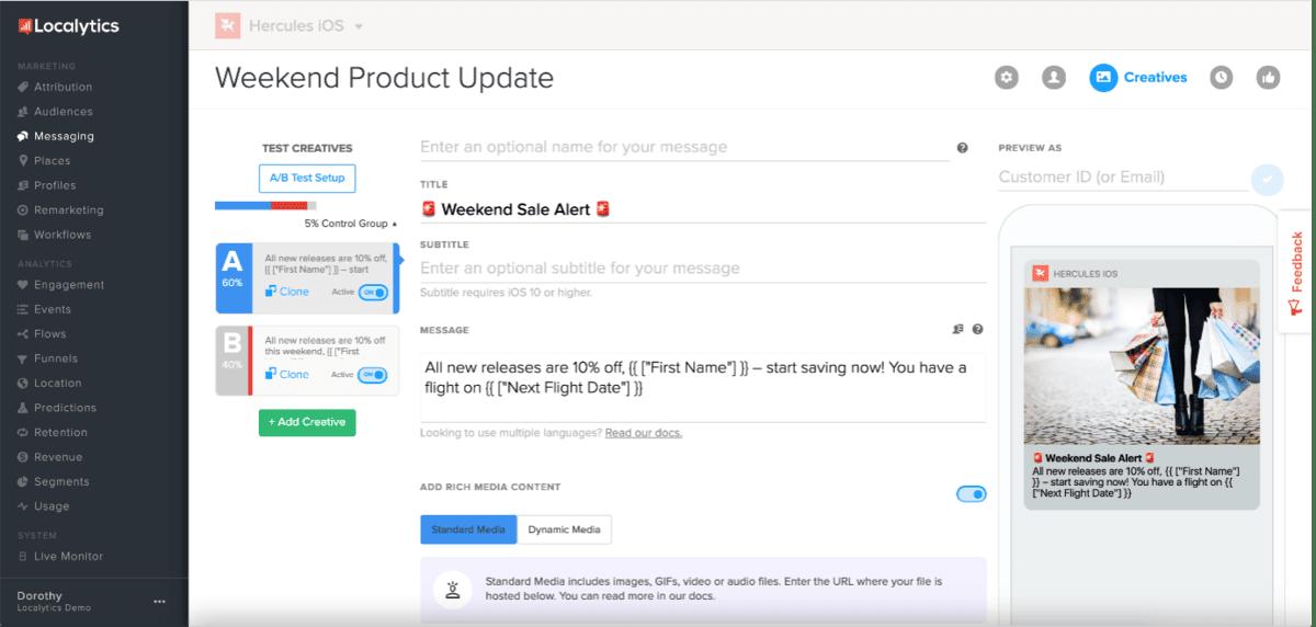 popup notifications