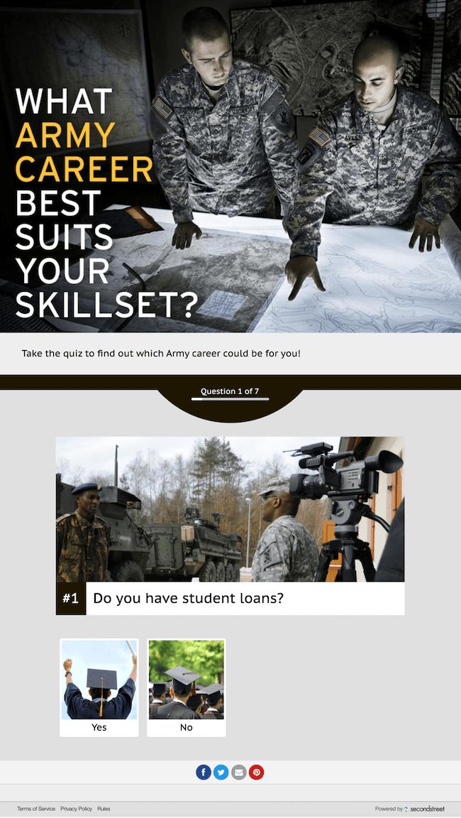 Creative Quiz for U.S. Army